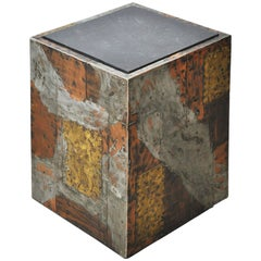 Paul Evans Mixed Metal Side Table with Slate Top