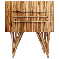 Guaimbê Commode with Body in Teak Solid Wood Panel, Handcrafted in Brazil