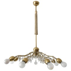 Eight-Armed Sputnik Chandelier or Pendant Lamp Bud by J. &L. Lobmeyr, Vienna