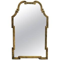 1960s Gilded Pediment Mirror by La Barge