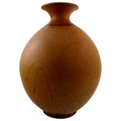 Large Kähler, Denmark, Glazed Stoneware Floor Vase