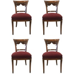 Set of Four Italian Carved Side Chairs