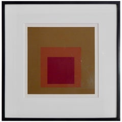 "Joseph Albers Screen Print ""Equivocal"" from Homage to the Square Portfolio, 1962"