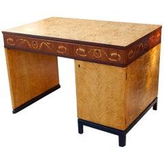 Swedish Art Deco Inlaid Desk by Ferdinand Lundquist, circa 1930