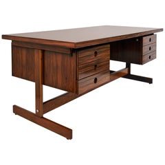 Sérgio Rodrigues, Monumental and Exquisite Jacaranda Desk, Brazil 1960's
