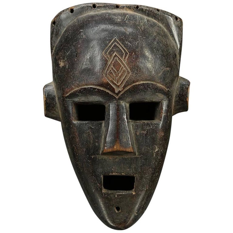 Tribal Kuba/Kete Face Mask with Large Open Eyes, Democratic Republic of Congo