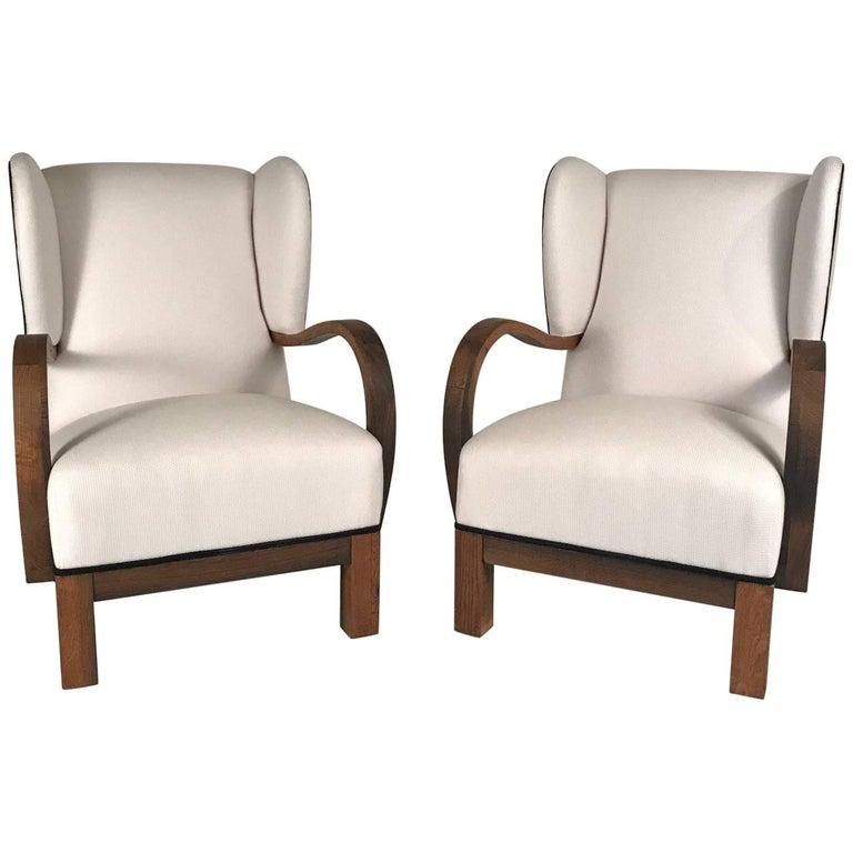 Pair of 1940s Danish Modern Armchairs