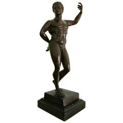 Grand Tour Bronze of a Standing Nude Warrior