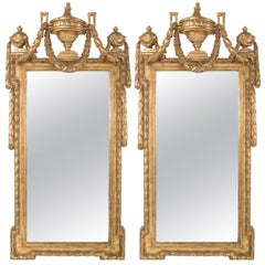 Pair of Georgian Style Water Gilt Mirrors