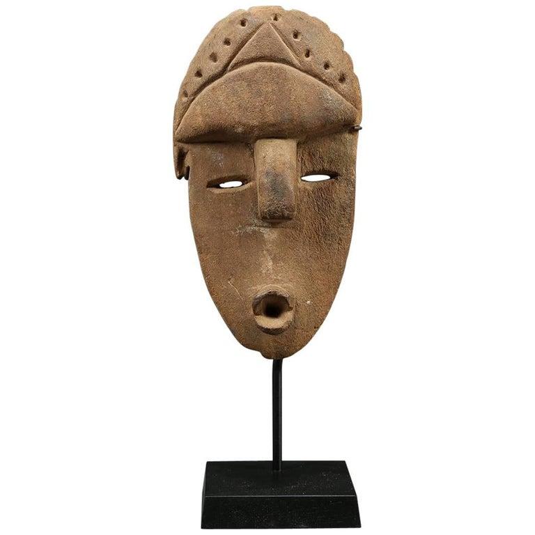 Stone Tribal Bassa Mask, Liberia