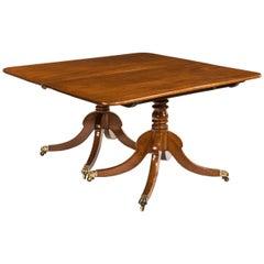 Regency Mahogany Twin Pillar Dining Table