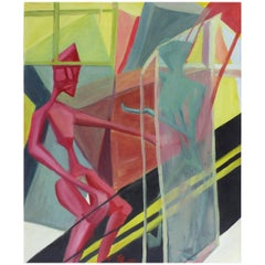 Over-Scale Cubist Abstract Oil Painting