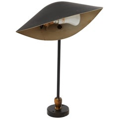 Serge Mouille Brass and Black Aluminium Mid-Century Modern Wall Lamp, 1953
