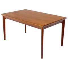 Danish Modern Rectangular Boat Shape Refectory Dining Table