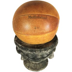 Vintage Leather Medicine Ball, 1930s Germany