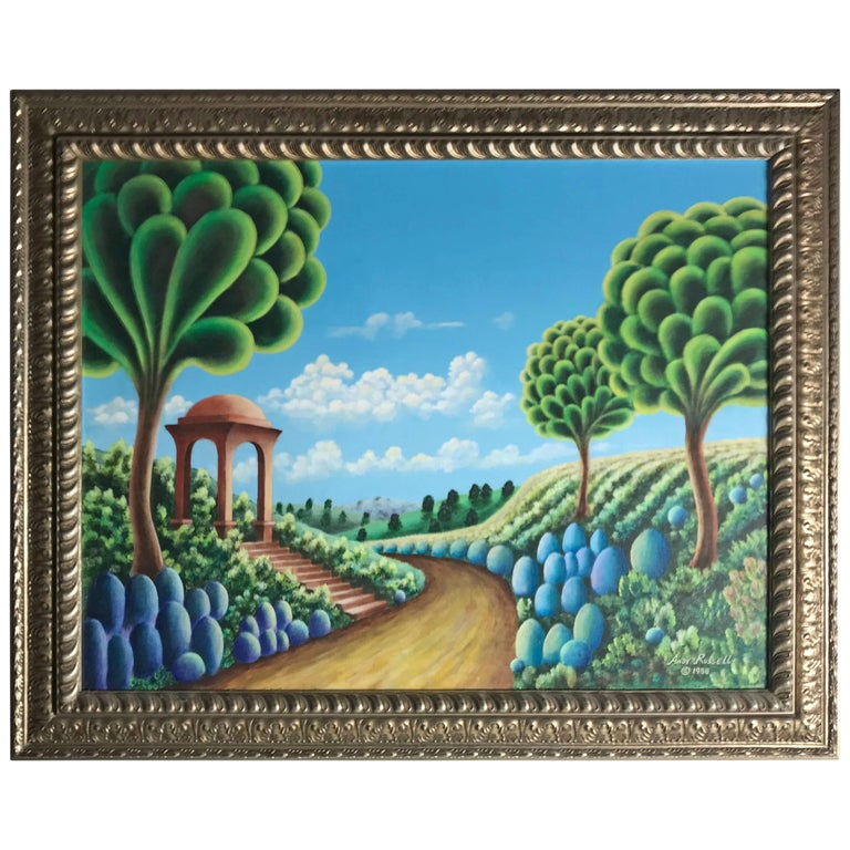 Original Oil on Canvas Dreamscape by Andy Russell, Buffalo, NY