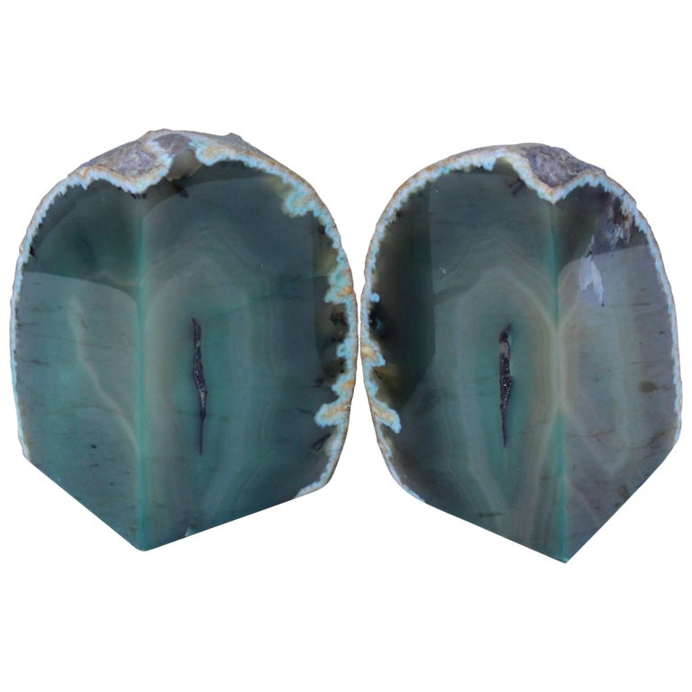 Agate Modern Bookends