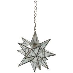 Large Glass Star Pendant Light