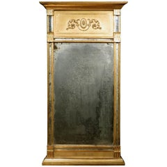 A Very Fine Gustavian Period Giltwood Pier Mirror, Swedish Circa 1800