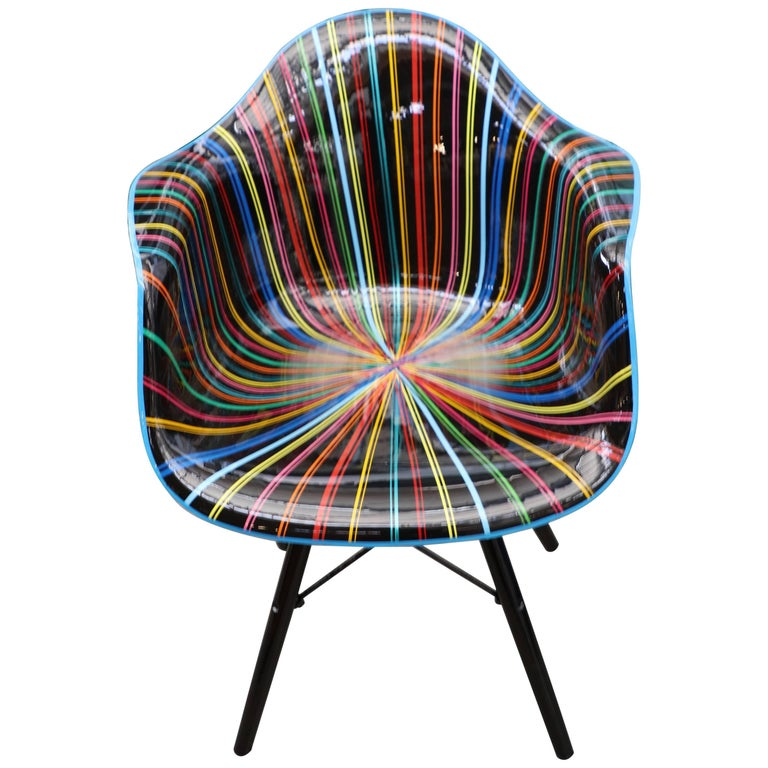 Mauro Oliveira Decorated Chair For Sale