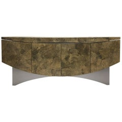 Sculptural Faux Stone and Lacquer Cabinet by Steve Chase