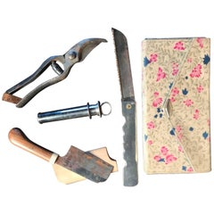 Japanese Antique Tool Kit of Four Professional Bonsai Pruning Tools