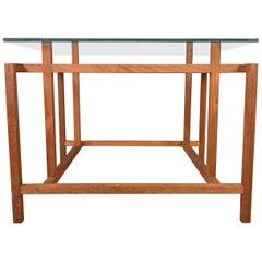 Henning Nørgaard for Komfort Teak and Glass Side Table