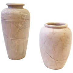 Pair of Italian Marble Vases