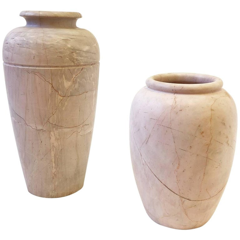Pair of Italian Marble Vases