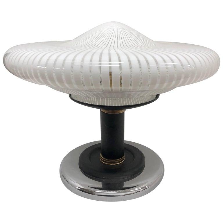 Space Age Venini Glass Table Lamp, Italy, circa 1980