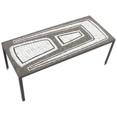 Ceramic Mosaic Tile Coffee Table, 1970s