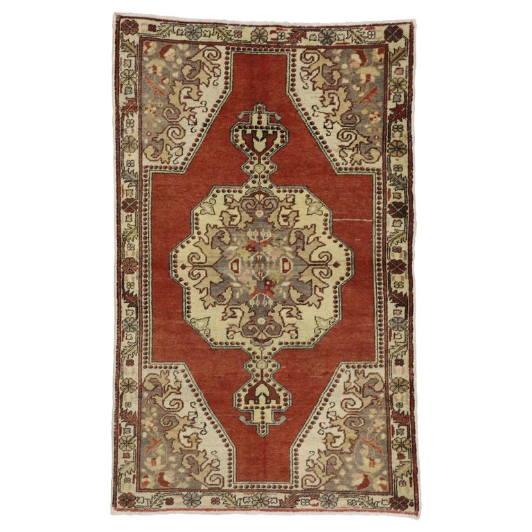 Antique Arts And Crafts Rugs: Vintage Turkish Oushak Rug With Arts And Crafts Style For
