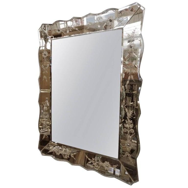 Copper Toned Venetian Mirror
