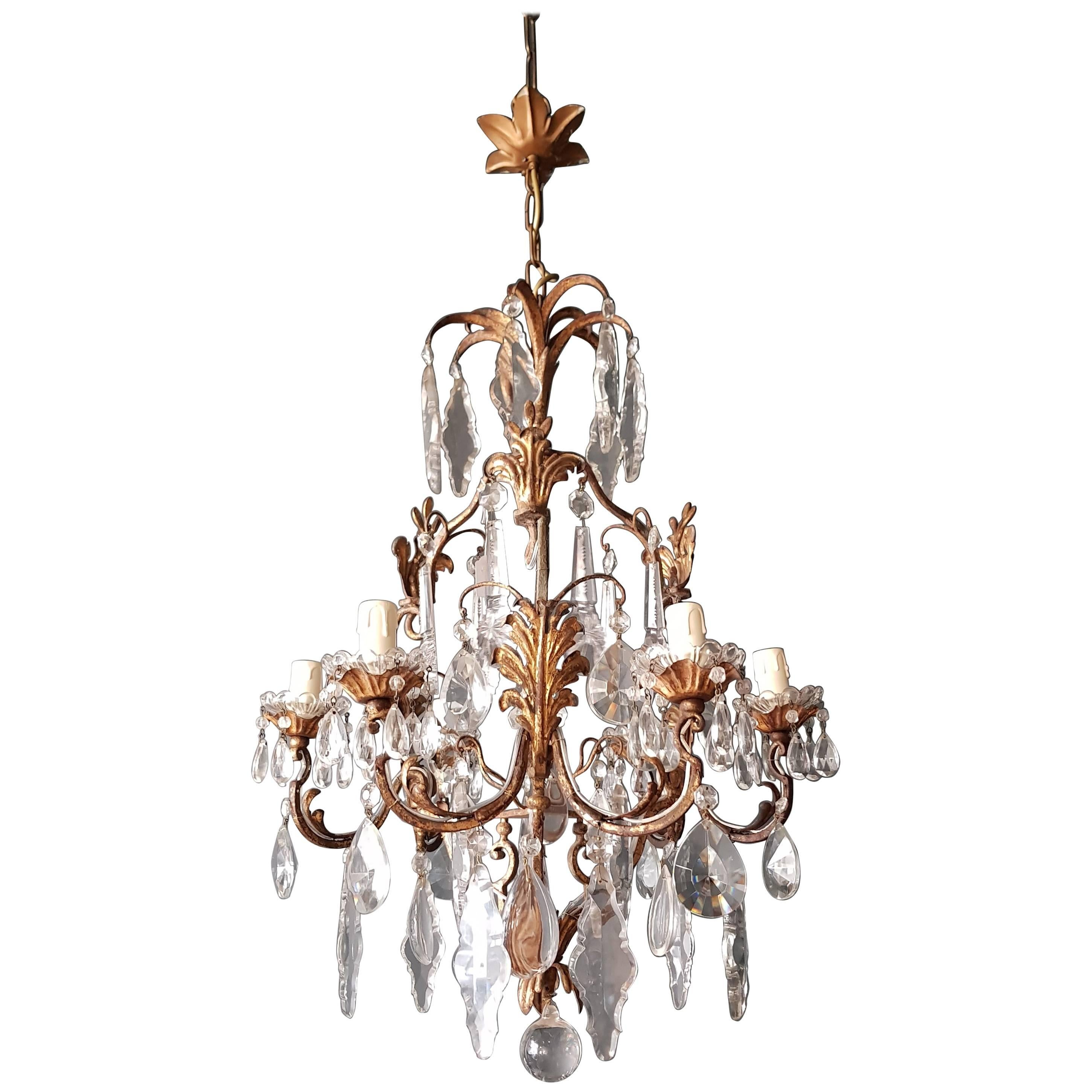 Crystal Chandelier Antique Ceiling Lamp Lustre Art Nouveau