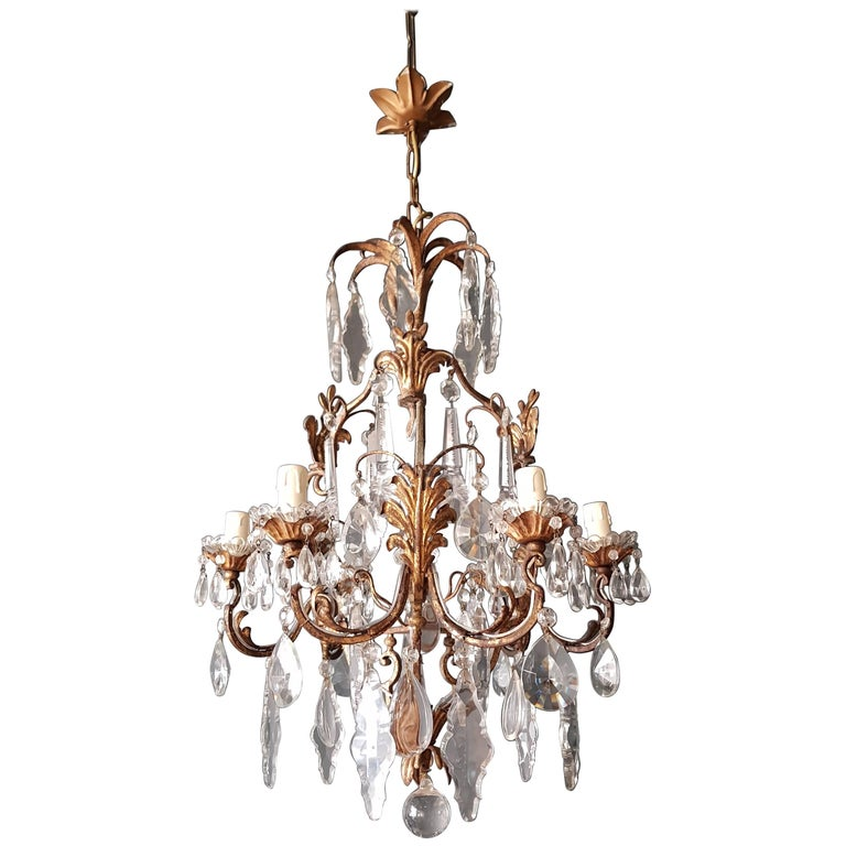 Crystal Chandelier Antique Ceiling Lamp Lustre Art Nouveau  1