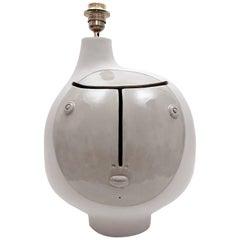 Dalo Ceramic Lamp Base Glazed in Grey