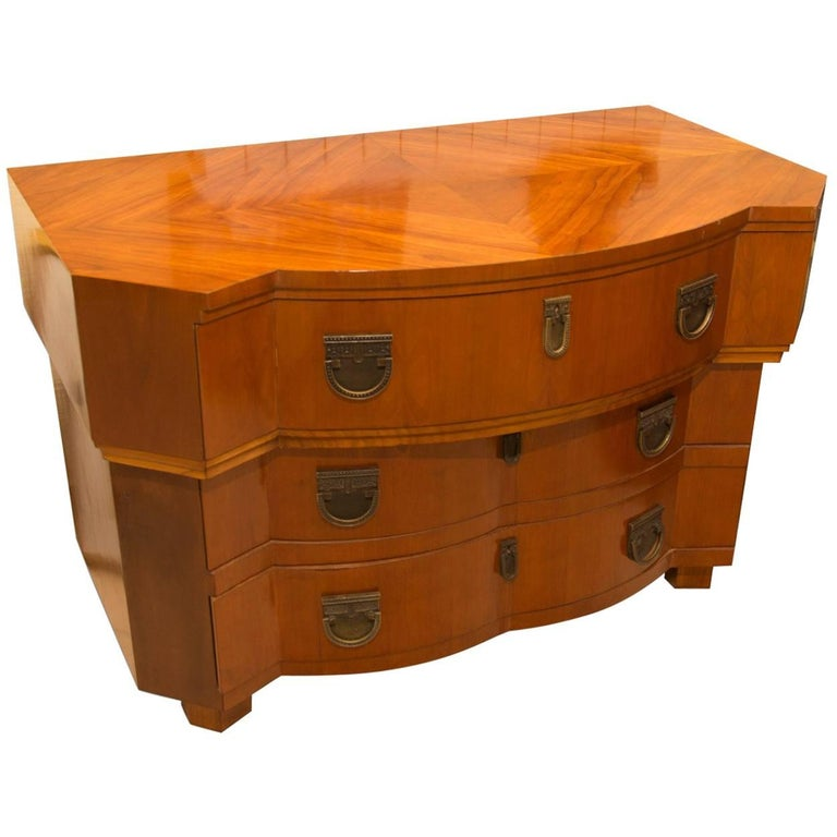 Early 20th Century Cubist Chest of Drawers, Bohemia