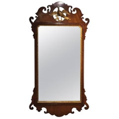 Mahogany George III Period Chippendale Style Wall Mirror