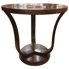Art Deco Walnut Side Table, Italy circa 1930