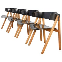 Set of Four Modular Dining Chairs by Victor Bernt for Soren Willadsen