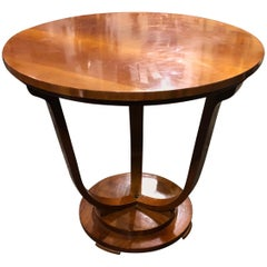 Art Deco Italian Mahogany Side Table, circa 1930