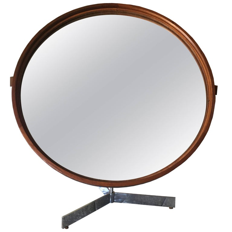 Table Mirror in Teak by Uno & Östen Kristiansson for Luxus, 1960s