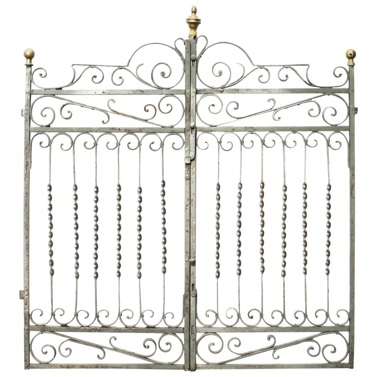 19th Century French Wrought Iron Gates