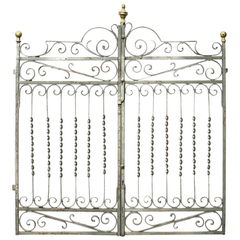 19th Century French Wrought Iron Gates