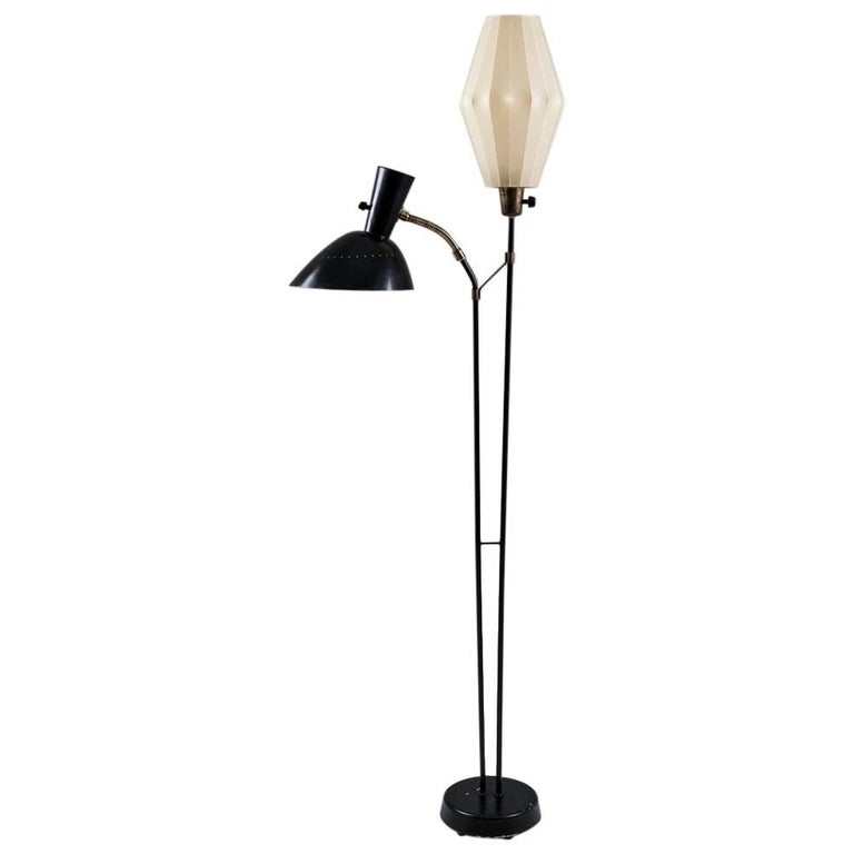 Floor Lamp Attributed to Hans Bergström for Ateljé Lyktan, 1950s, Sweden