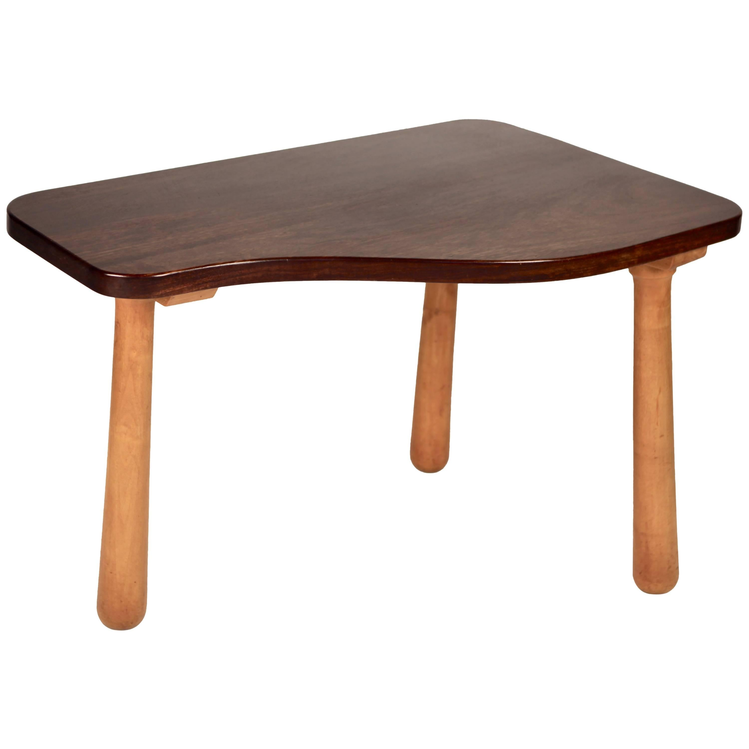 Solid Cuban Mahogany Occasional Table, Sweden, 1940s