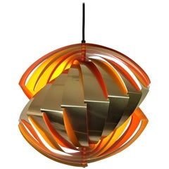 "Iconic ""Conch"" Pendant, in Danish ""Konkylie"" Designed by Louis Weisdorf"