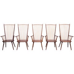 Set of Five Albert Haberer Arm Chairs for H. Fleiner Stuttgart, Germany, 1950s