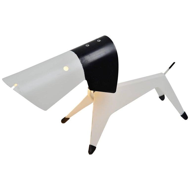 Jean Boris Lacroix Dog Lamp Disderot, 1950