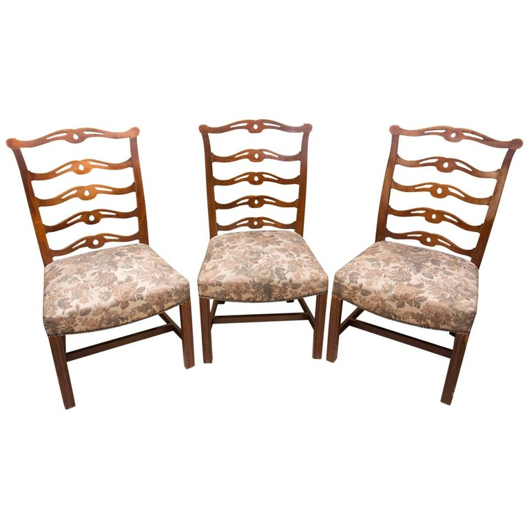 Adolf Loos, Early 20th Century Secessionist Chairs in Oak, Set of Three